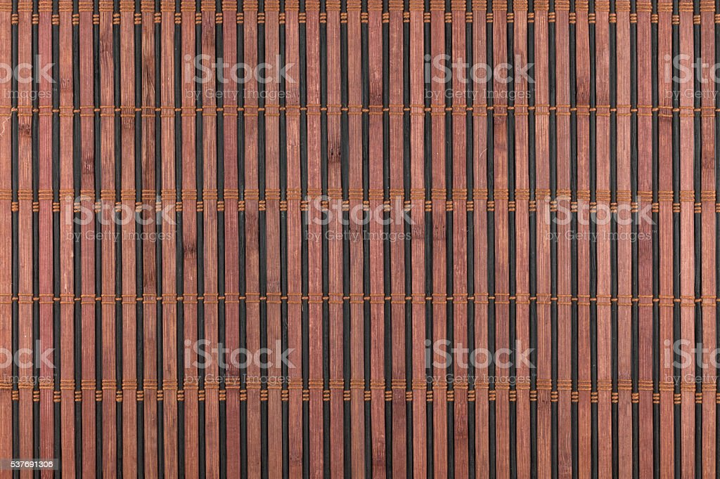 Bamboo brown mat as abstract texture, background, composition stock photo