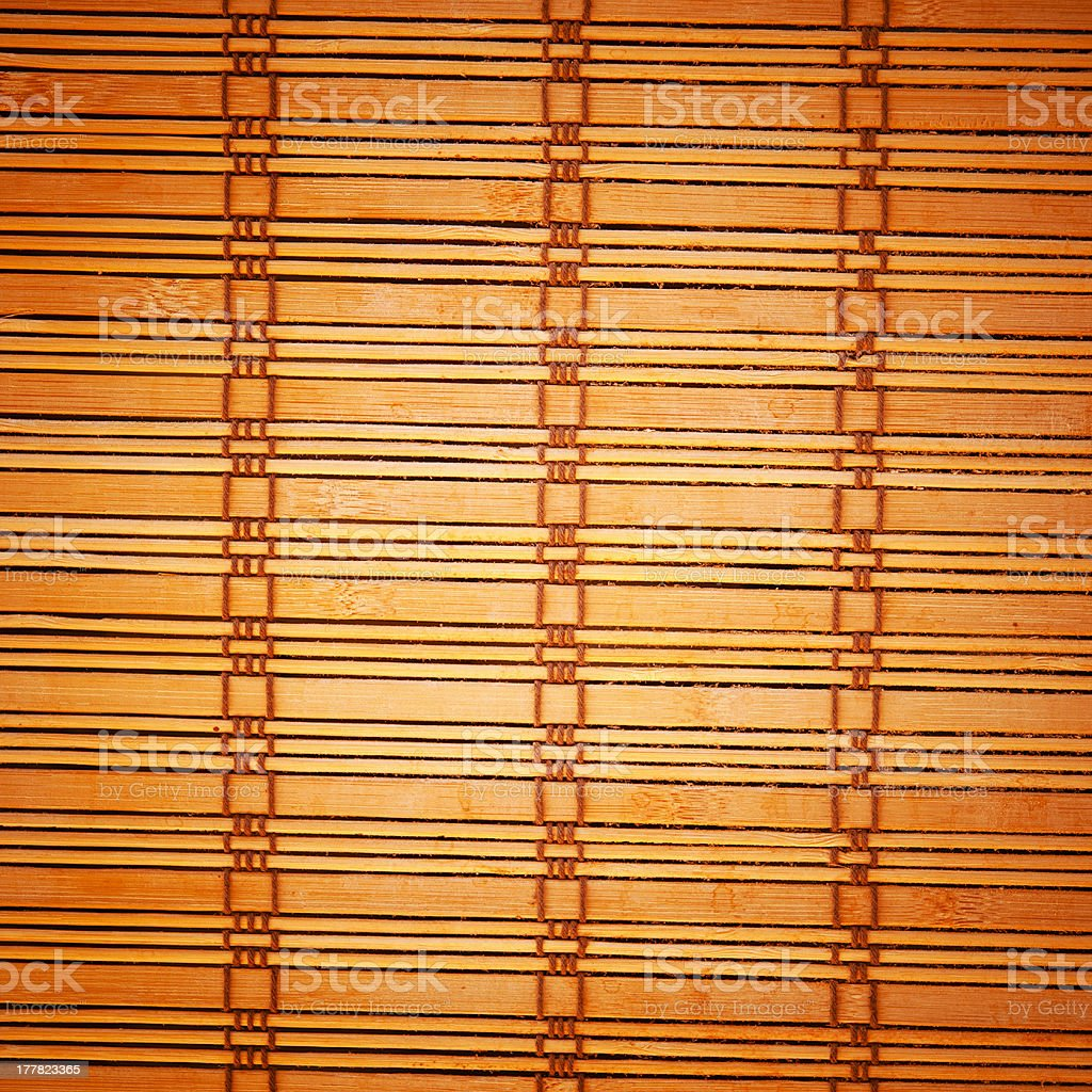 bamboo brown tablecloth royalty-free stock photo