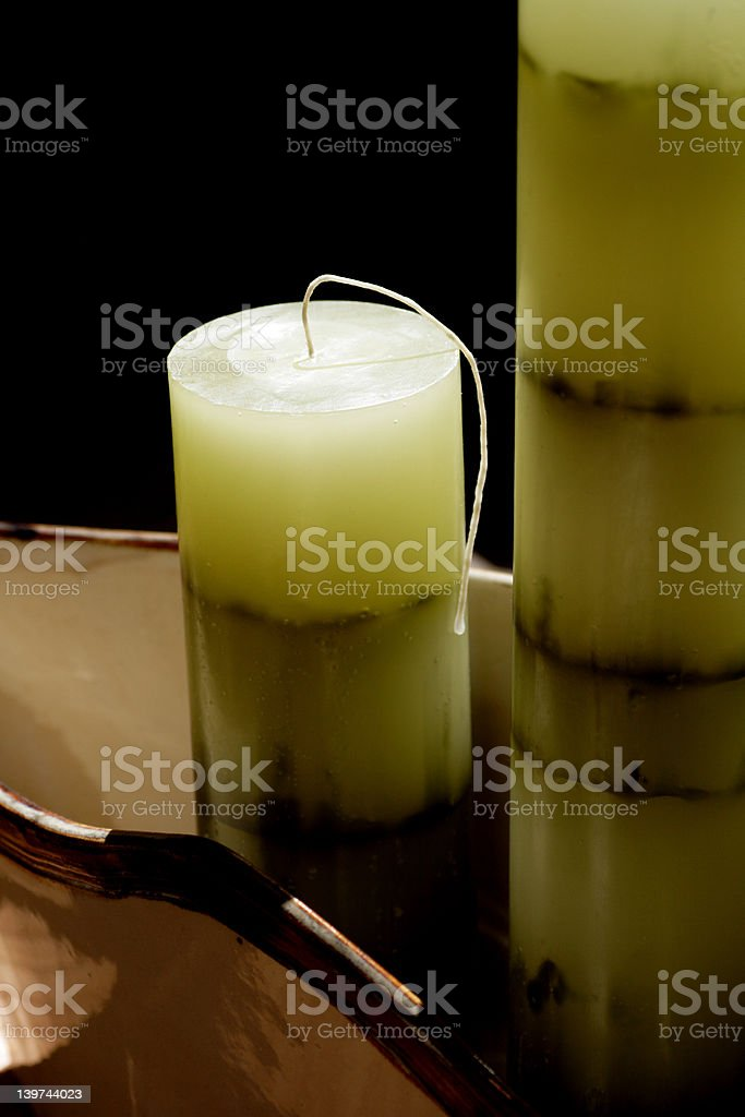 Bamboo candles stock photo