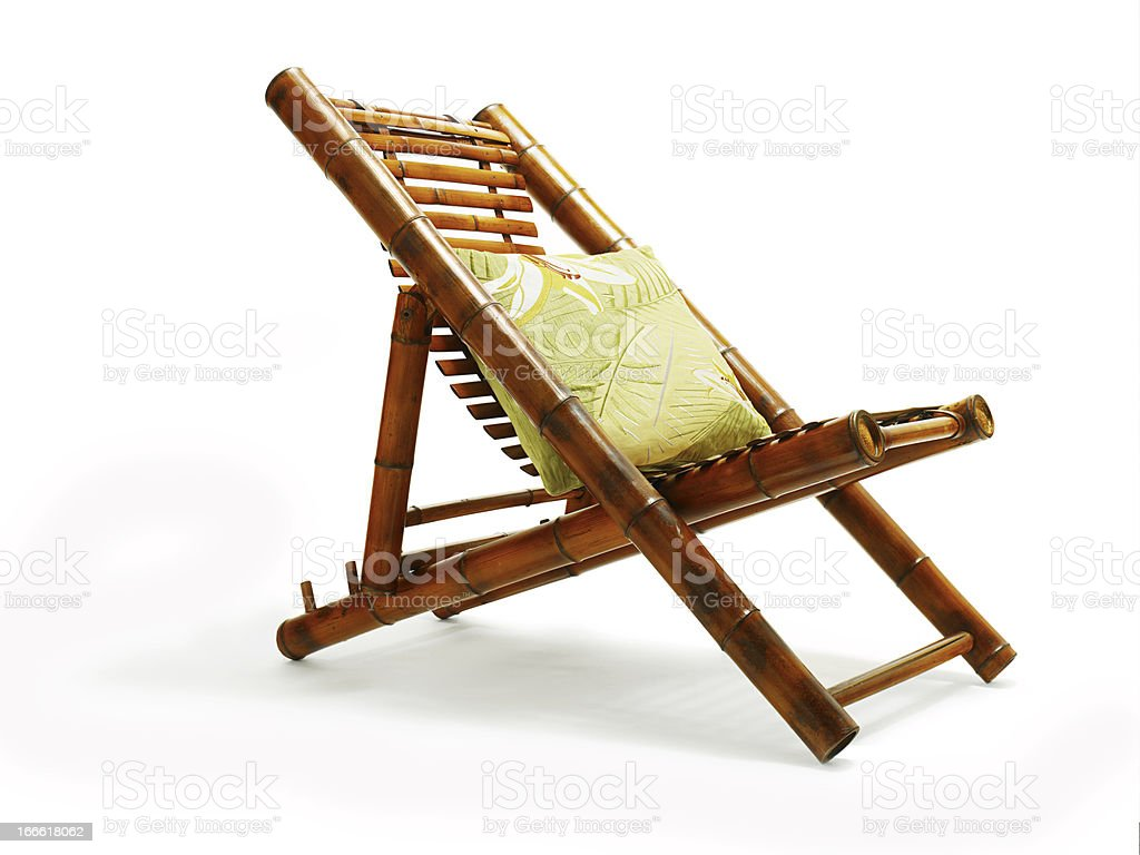 Bamboo Chair royalty-free stock photo