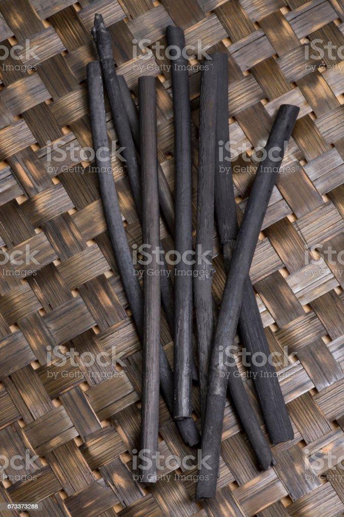 Bamboo charcoal stock photo
