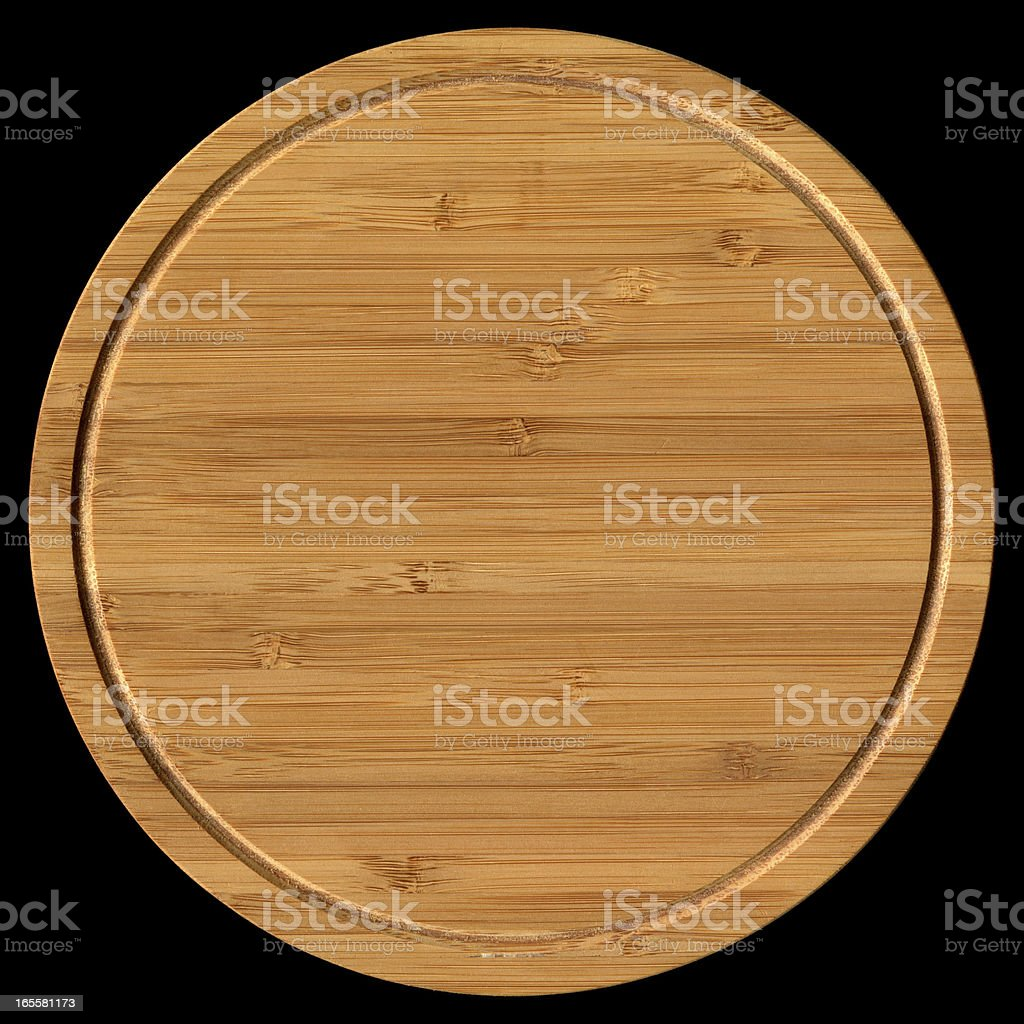 Bamboo chopping block background (Clipping path!) stock photo