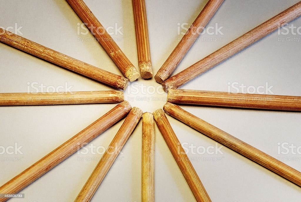 Bamboo Chopsticks royalty-free stock photo