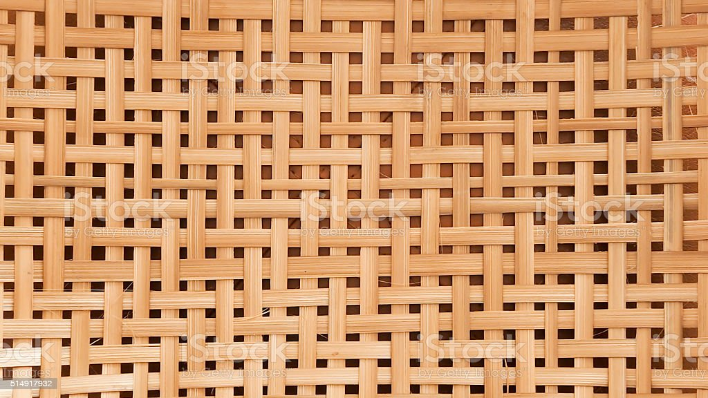 bamboo craft texture for background wallpaper stock photo