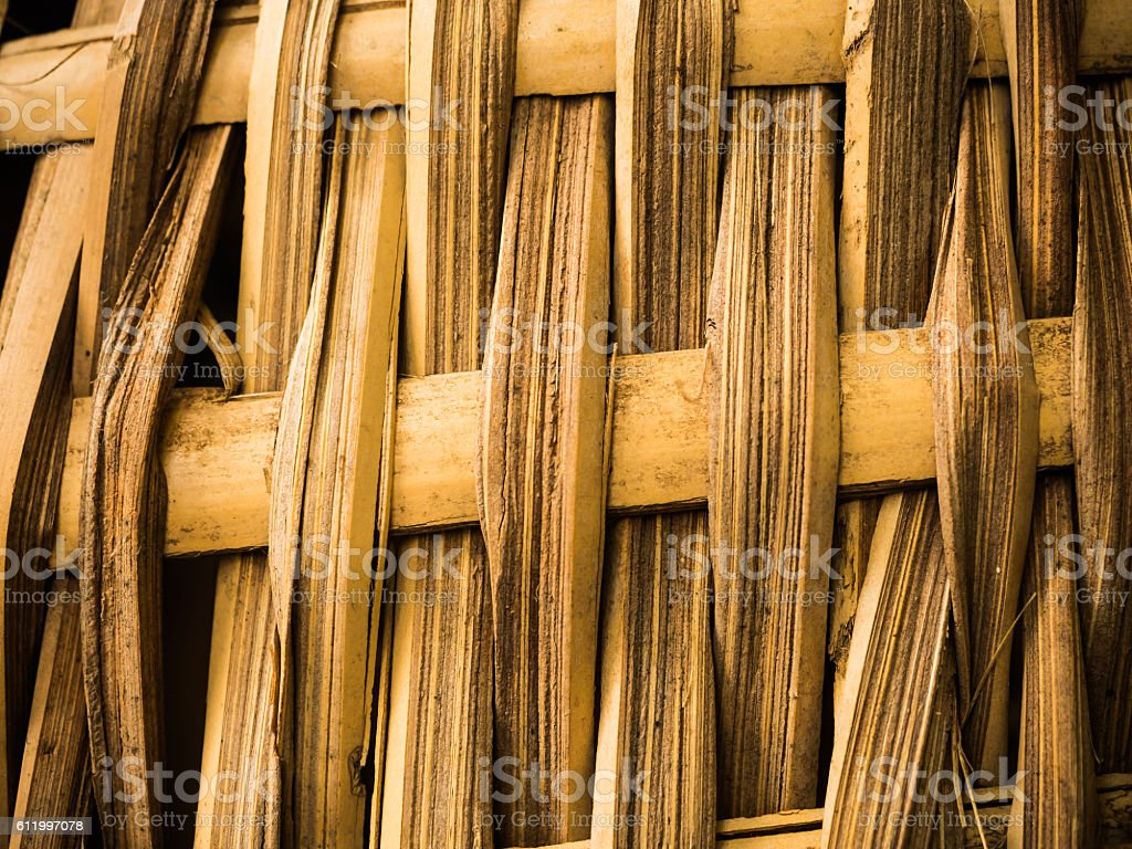 Bamboo craft texture stock photo