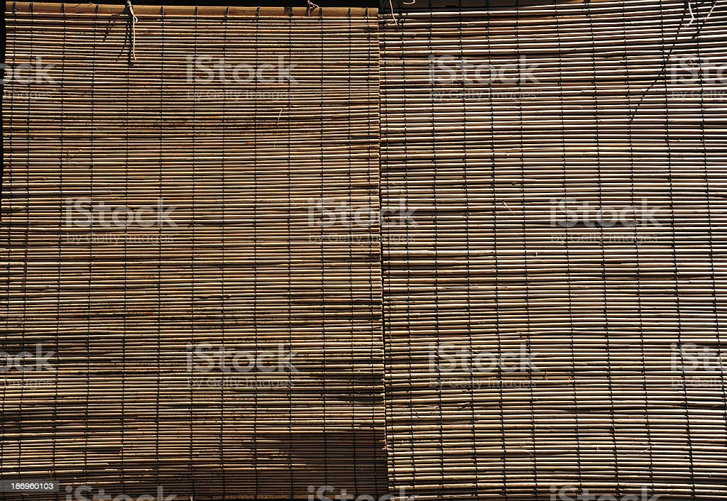 Bamboo curtain royalty-free stock photo
