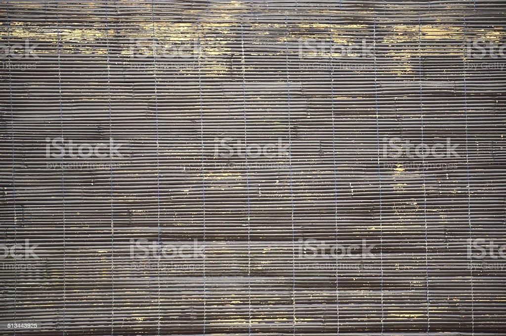 bamboo curtain stock photo
