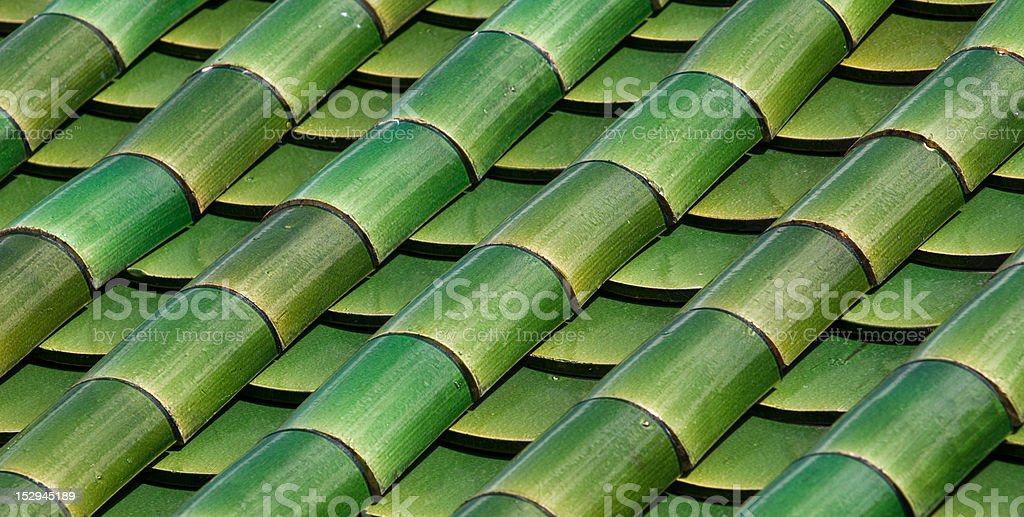 Bamboo effect roof tiles royalty-free stock photo
