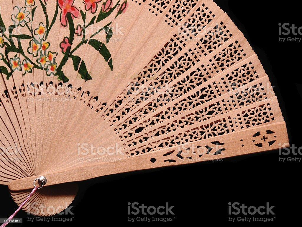 Bambu ventilador detalhe foto royalty-free
