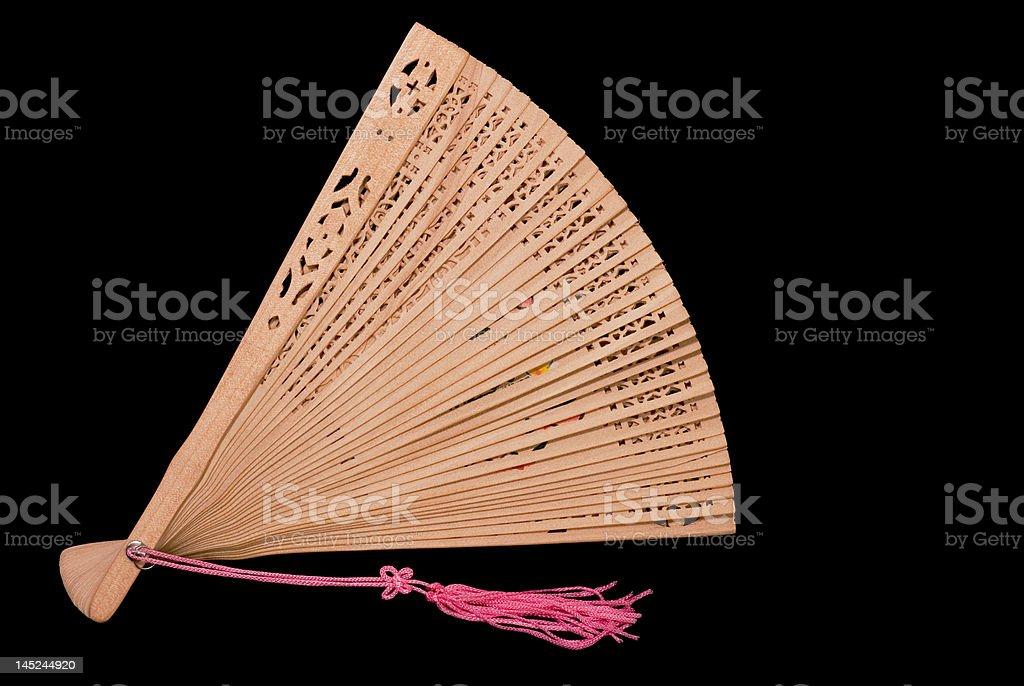 Ventilador de bambu foto royalty-free