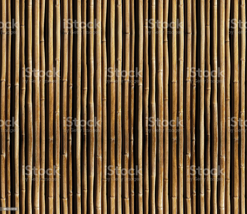 Bamboo Fence (Seamless Tile) royalty-free stock photo