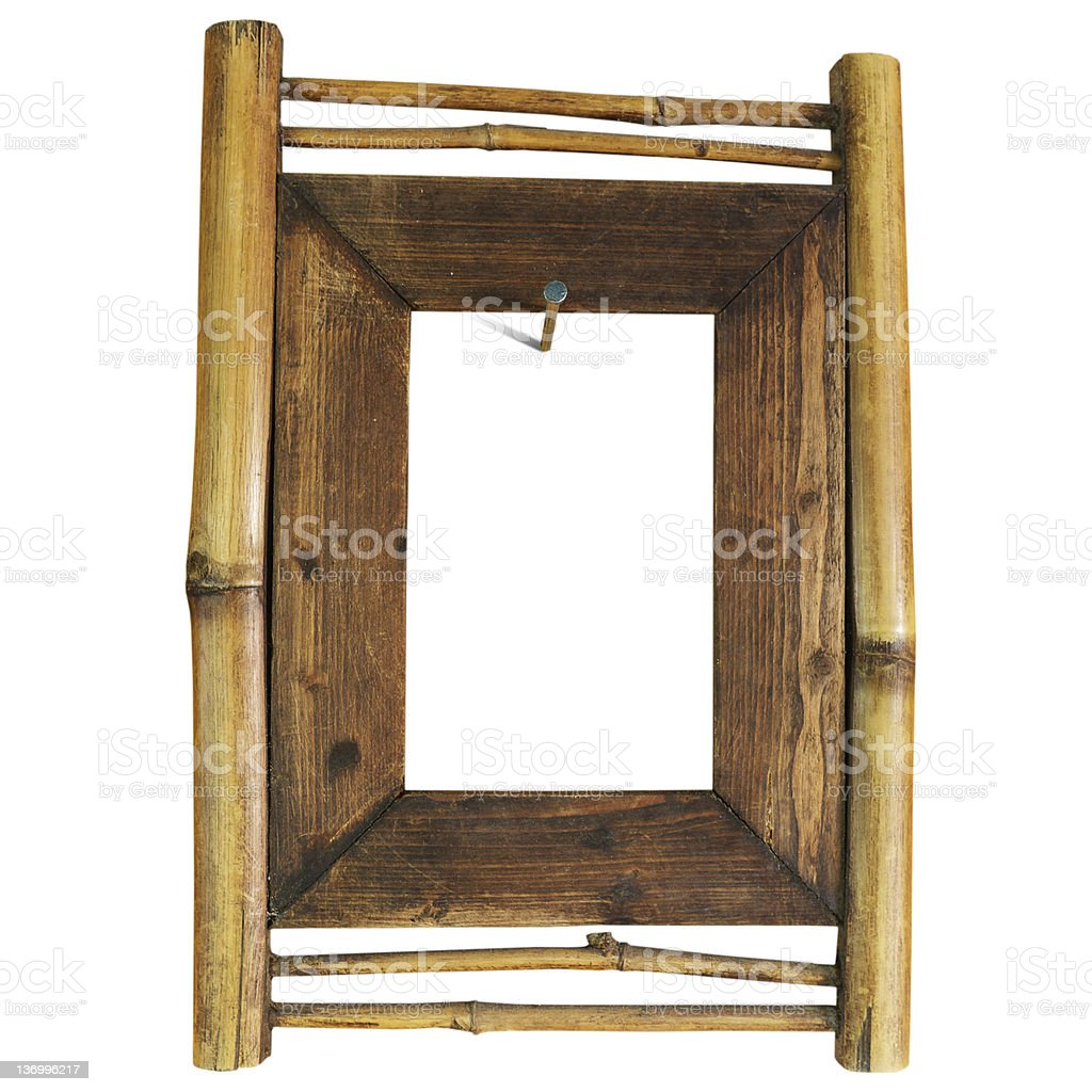 Bamboo frame royalty-free stock photo