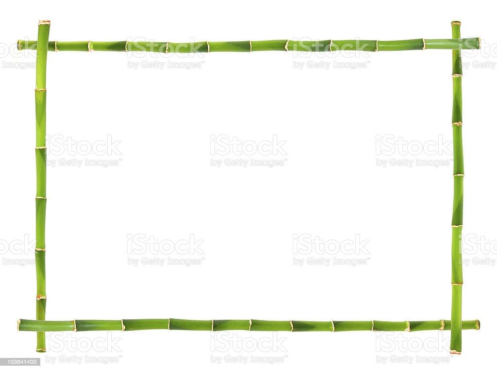 Bamboo frames isolated stock photo