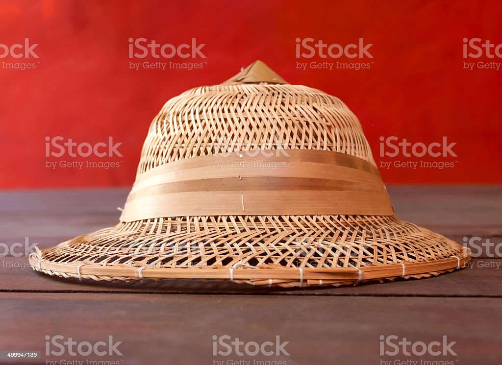 Bamboo hat royalty-free stock photo