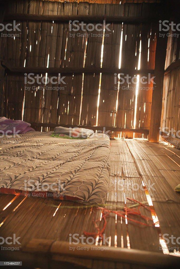 Bamboo Hut royalty-free stock photo