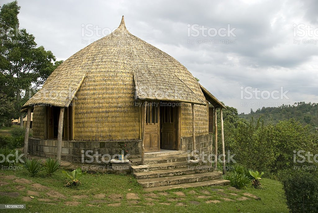 Bamboo hut royalty-free stock photo