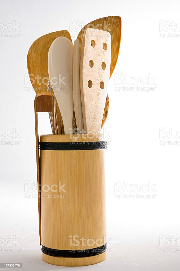 Bamboo Kitchen Tools royalty-free stock photo