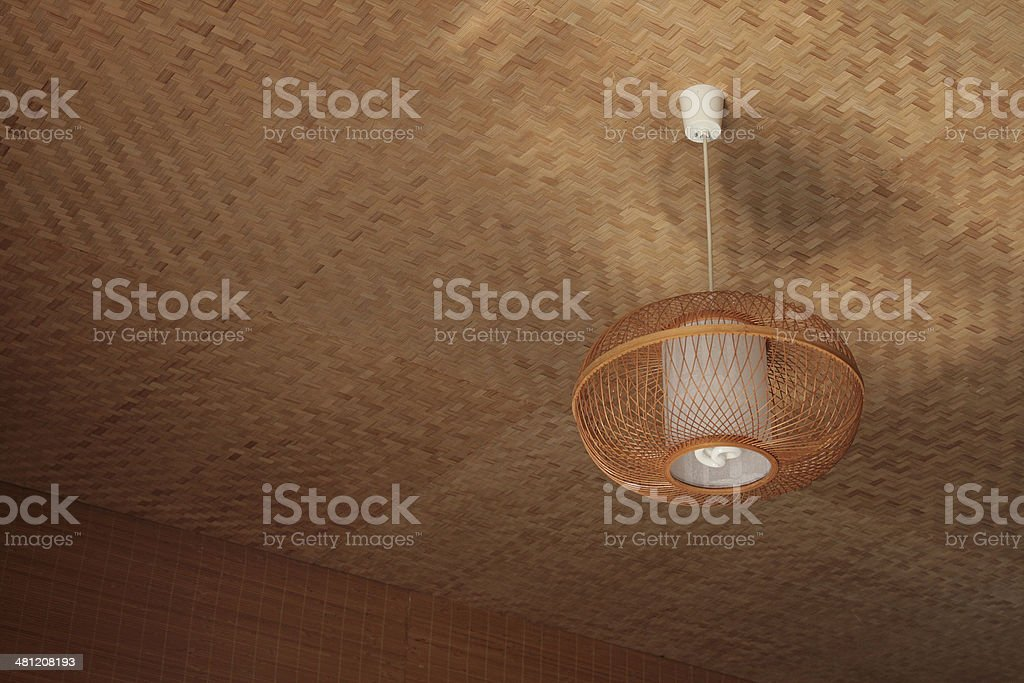 Bamboo lamp stock photo