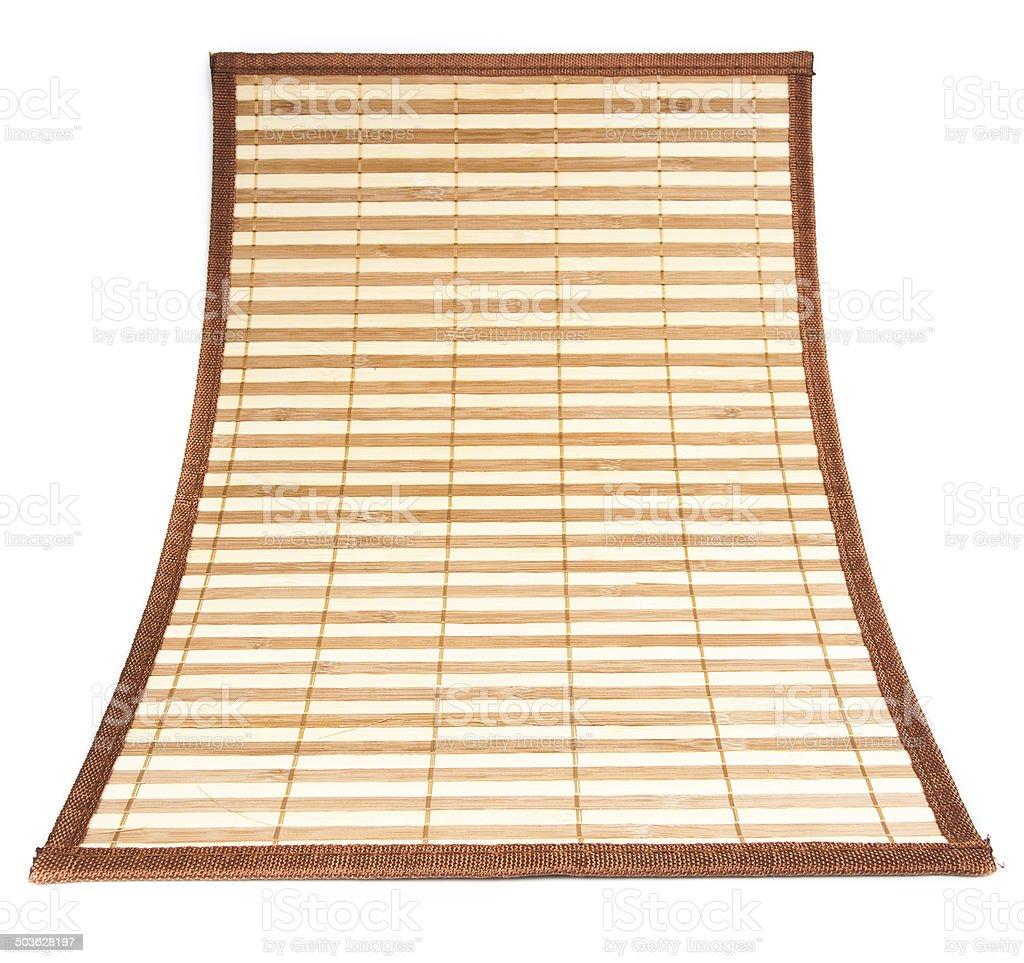 Bamboo mat. Nature background. Close up stock photo
