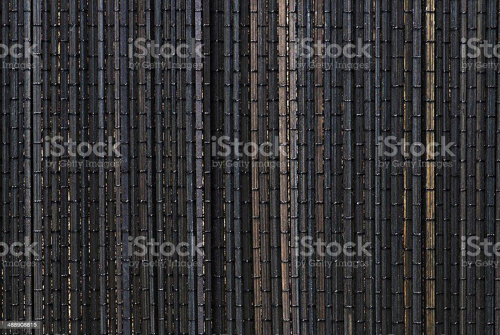 Alfombrilla de bambú foto de stock libre de derechos