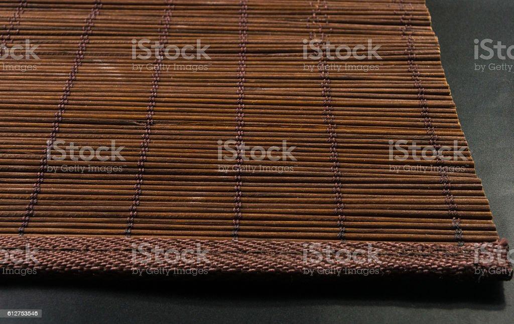 bamboo Mat - stand food stock photo