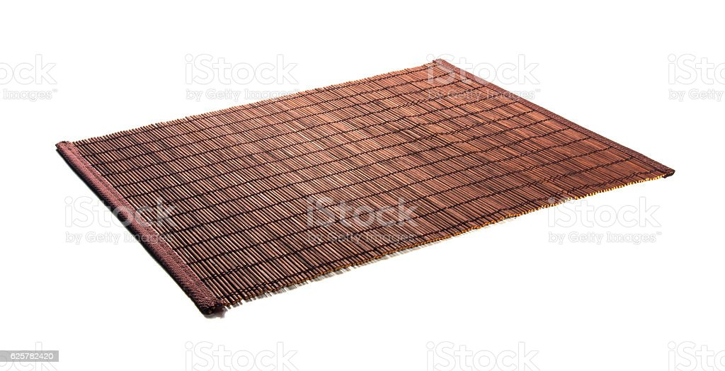 bamboo Mat - stand food stock photo