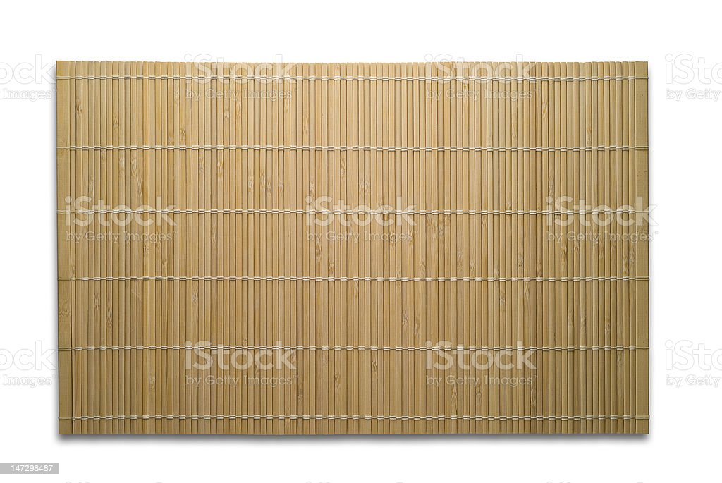 Bamboo mat with clipping path royalty-free stock photo