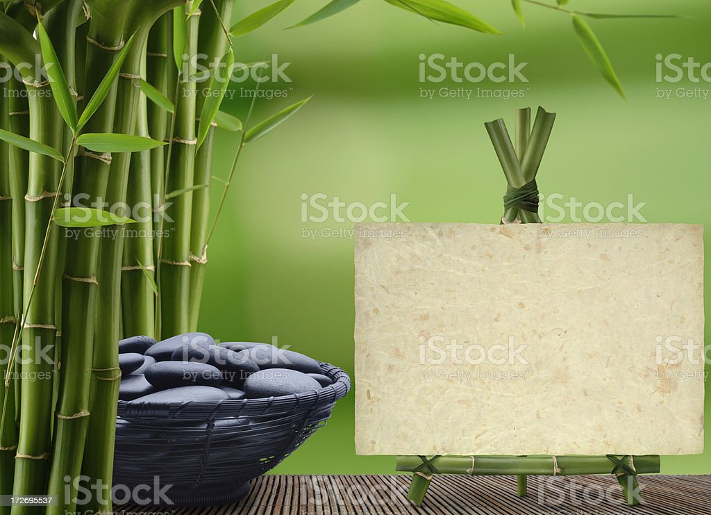 Bamboo Message royalty-free stock photo