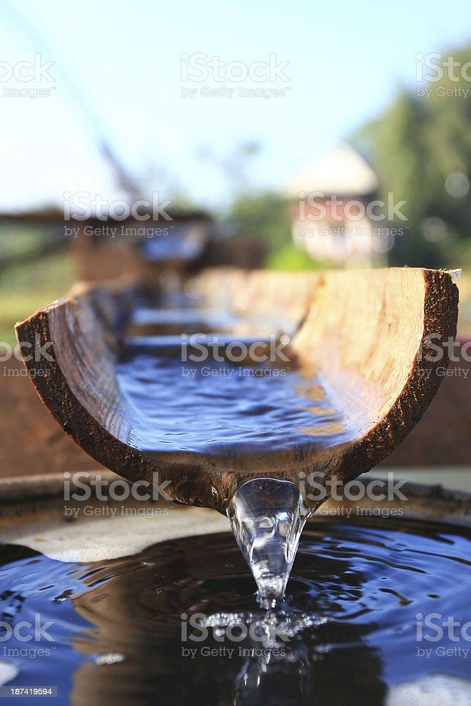 Bamboo Pipe stock photo