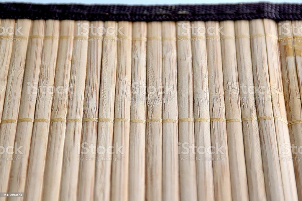 Bamboo plate mat texture. stock photo