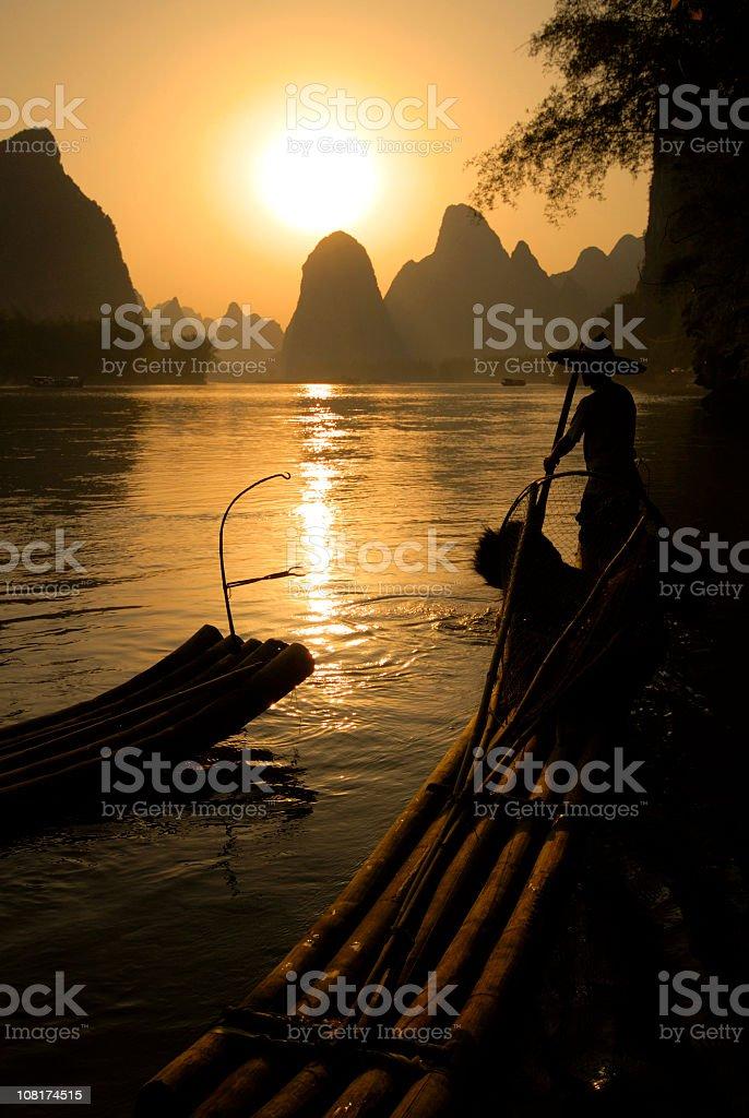 Bamboo Rafting royalty-free stock photo