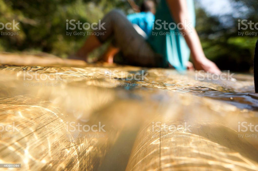 Bambú Rafting foto de stock libre de derechos