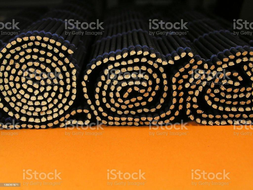 Bamboo rolls royalty-free stock photo