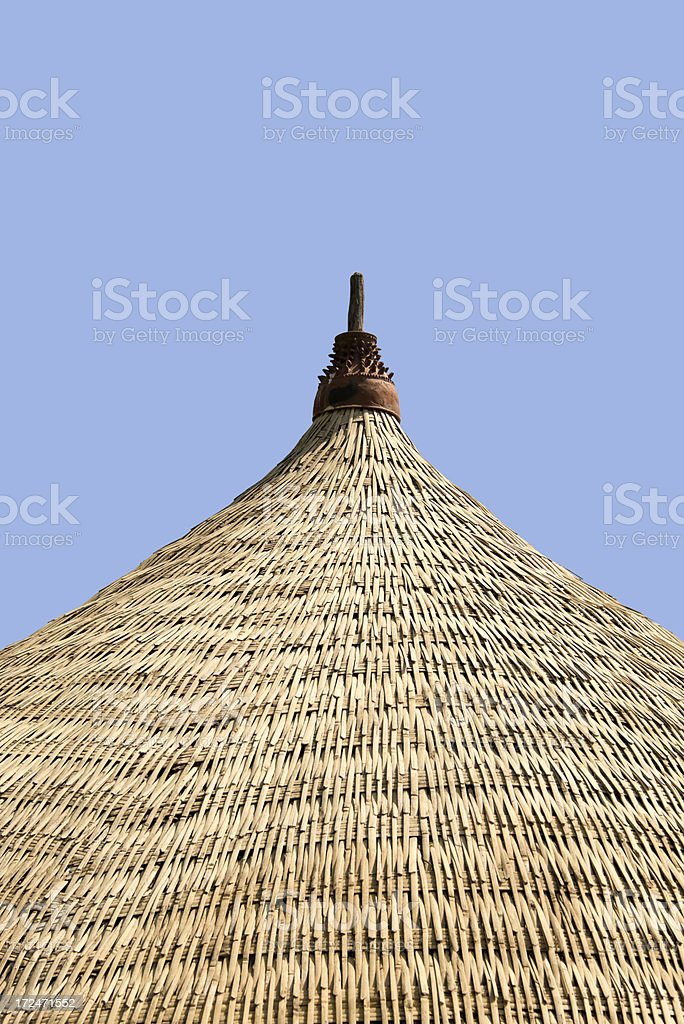 Bamboo Rooftop royalty-free stock photo