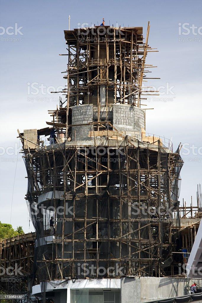 Bamboo scaffolding stock photo