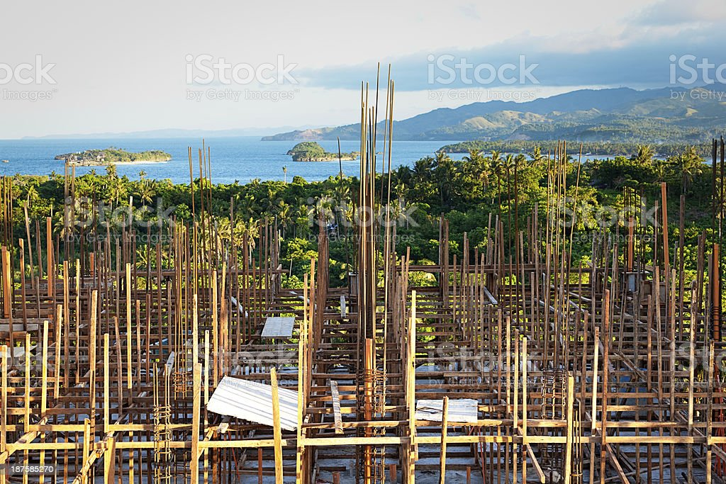 bamboo scaffolding royalty-free stock photo