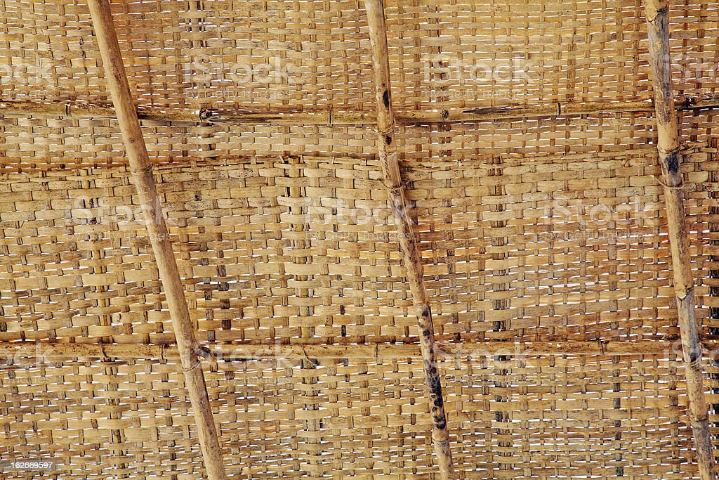 Bamboo shack roof weave royalty-free stock photo