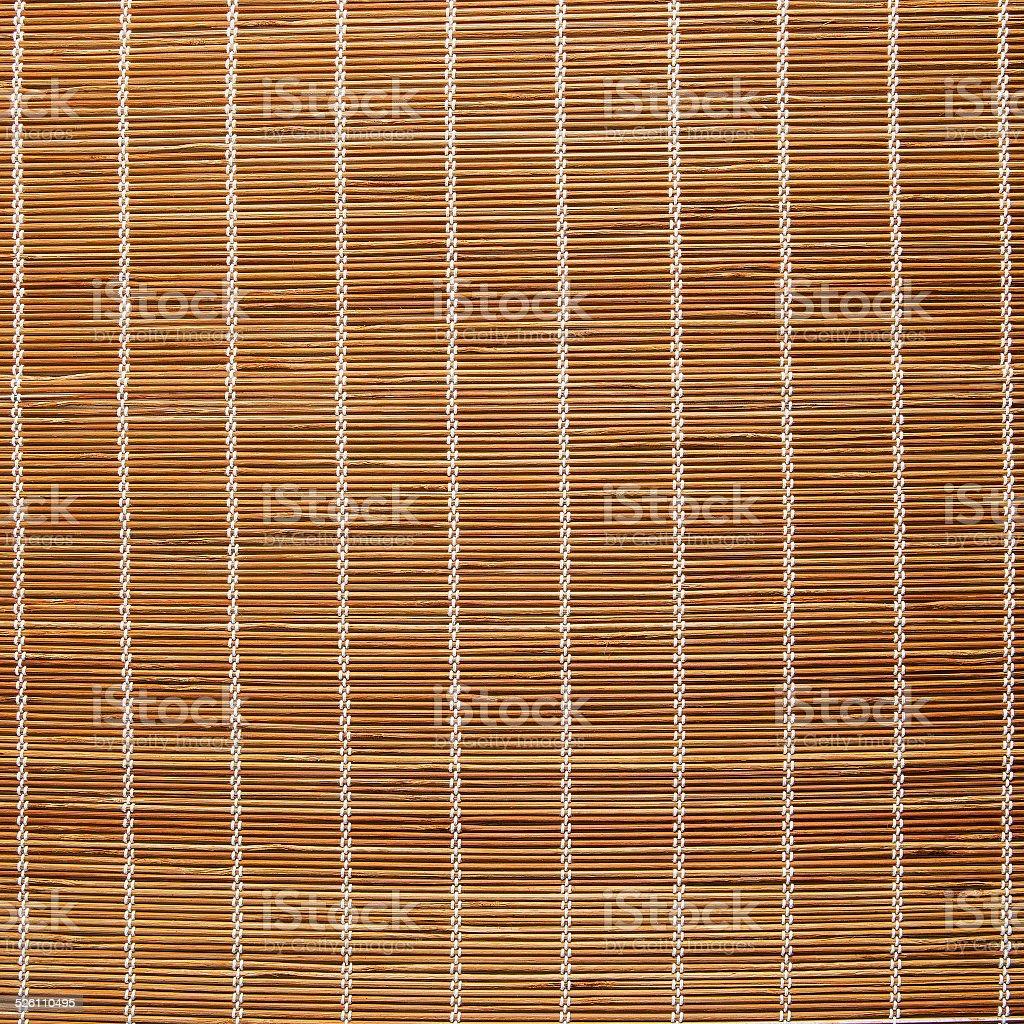 Bamboo shade as sun protection stock photo