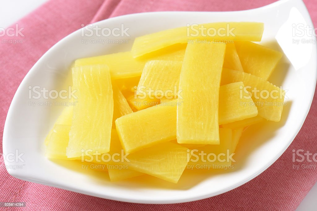 bamboo shoot slices stock photo
