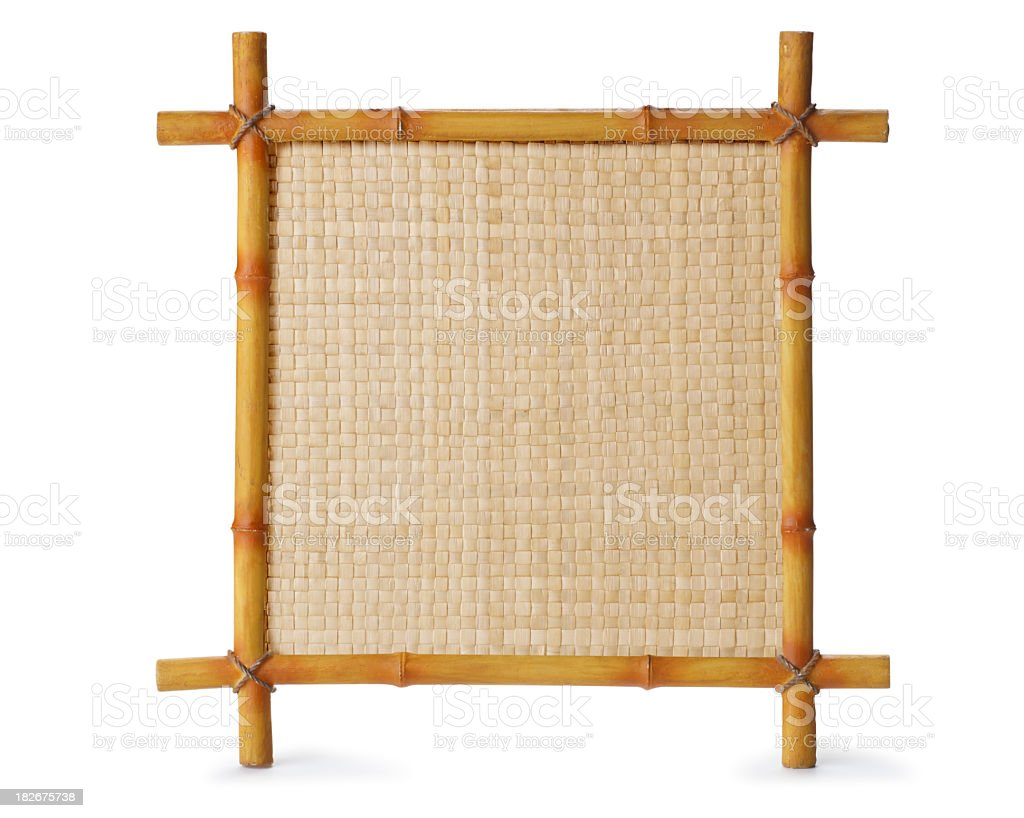 Bamboo sign isolated on white background stock photo