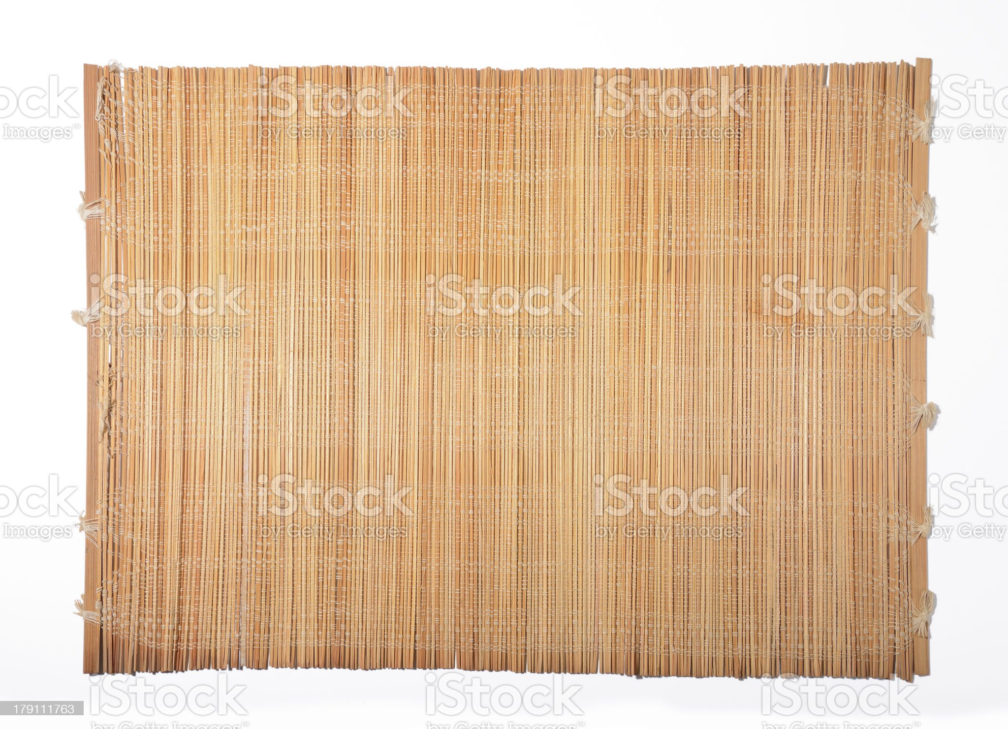 Bamboo sleeve unfolded royalty-free stock photo
