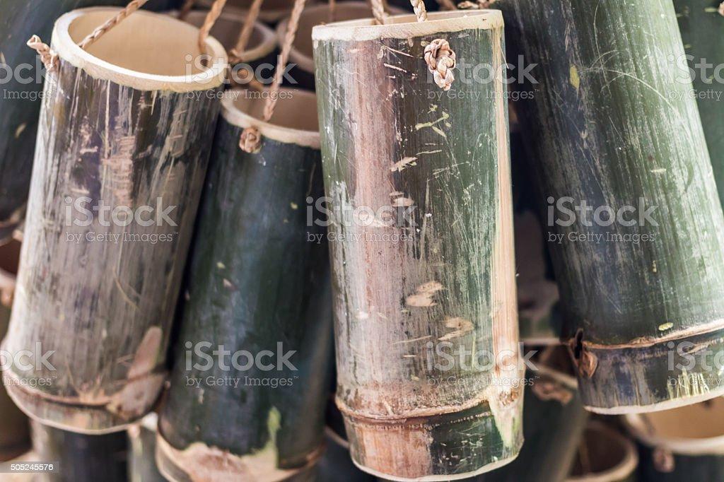 bamboo tube stock photo