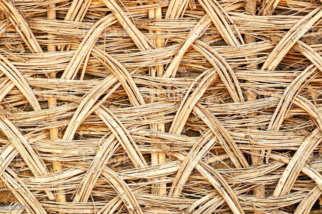 Bamboo wave pattern wall pattern stock photo