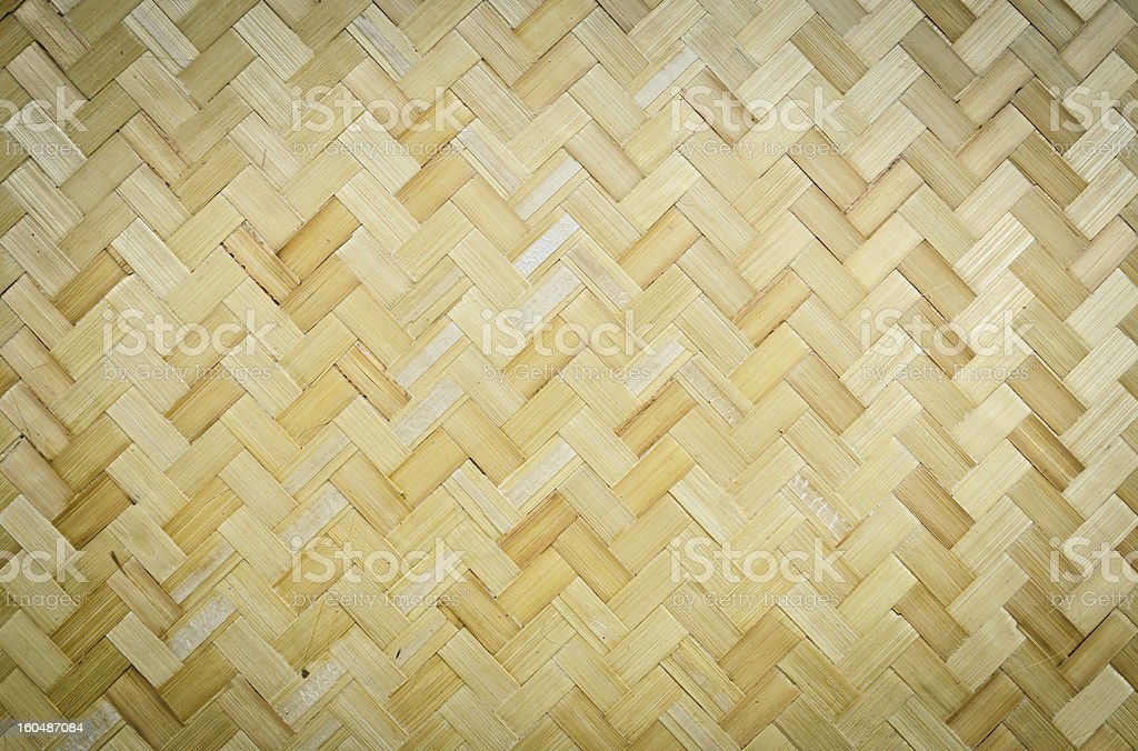 Bamboo weave pattern royalty-free stock photo