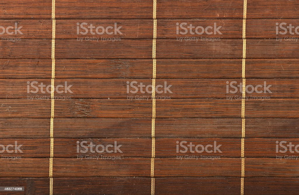 Bamboo wooden brown wicker braided mat background royalty-free stock photo