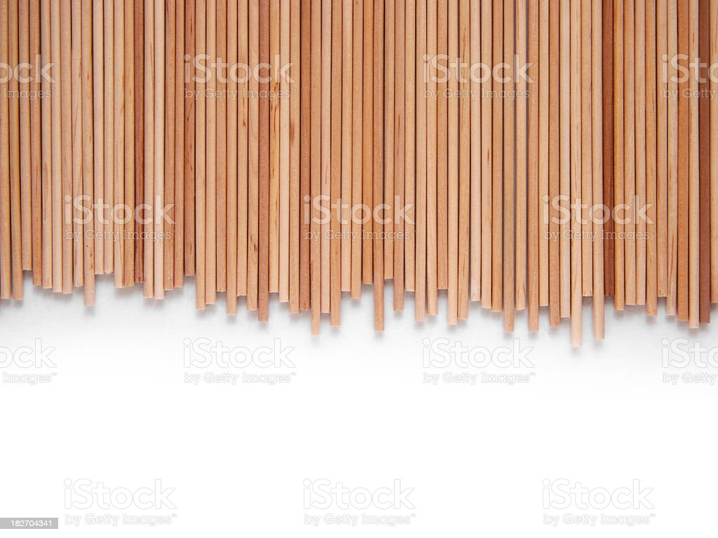Bamboo wooden page border on white stock photo