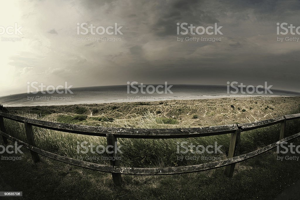 Bamburgh Beach in England royalty-free stock photo