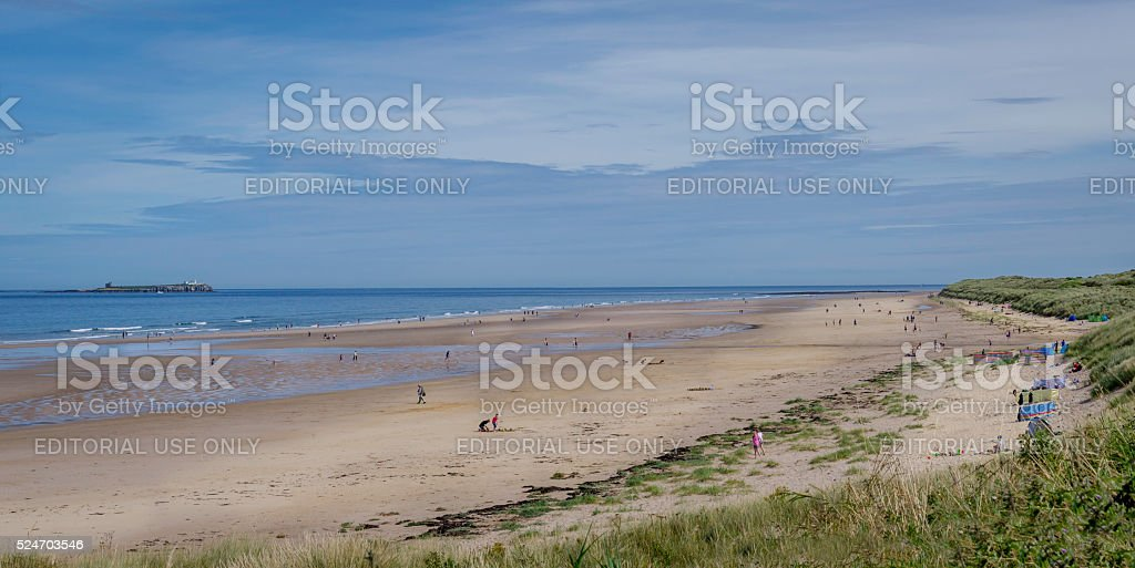 Bamburgh Beach stock photo