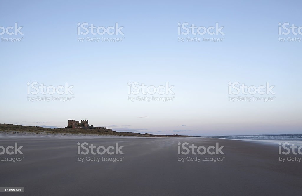 Bamburgh Castle at dawn royalty-free stock photo
