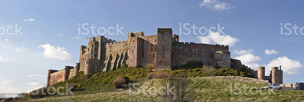 Bamburgh Castle from the South stock photo